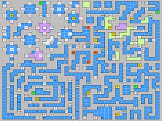 Un exemple de map de milieu de jeu. Labyrinthique...