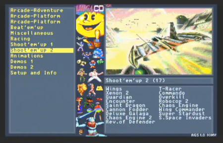 Ecran d'accueil du CD-222