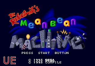 Dr Robotnik's Mean Bean Machine UE