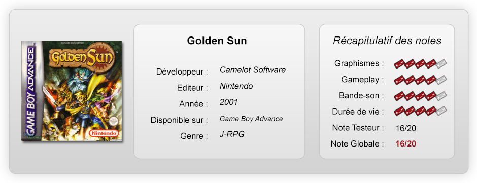 Golden Sun - Notes