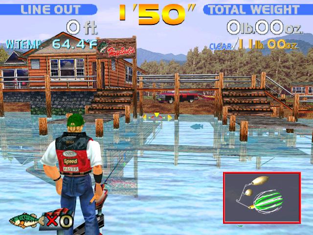 Sega Bass Fishing (se joue avec une canne à pêche)