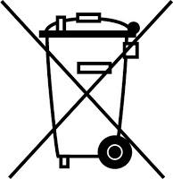 Symbole « poubelle barrée » de la directive WEEE de l'UE