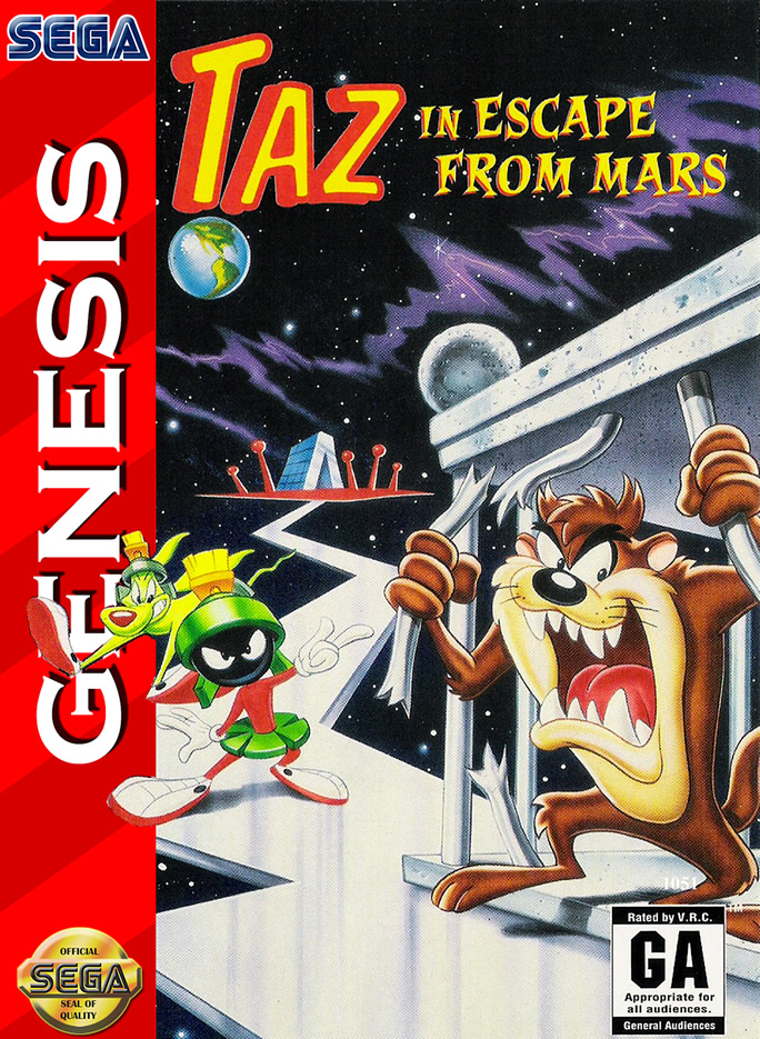 Taz in Escape From Mars (MD & MS & GG US & EURO)