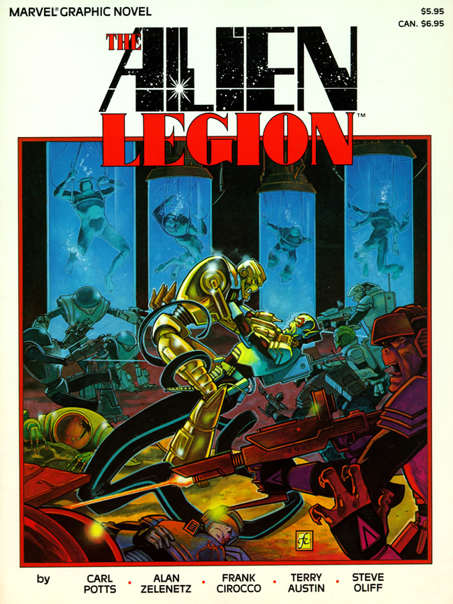Alien Legion, l'un des nombreux Comic illustrés par Frank