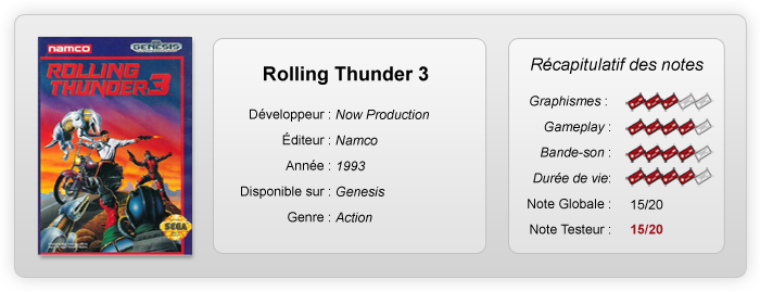 Notes rolling thunder 3