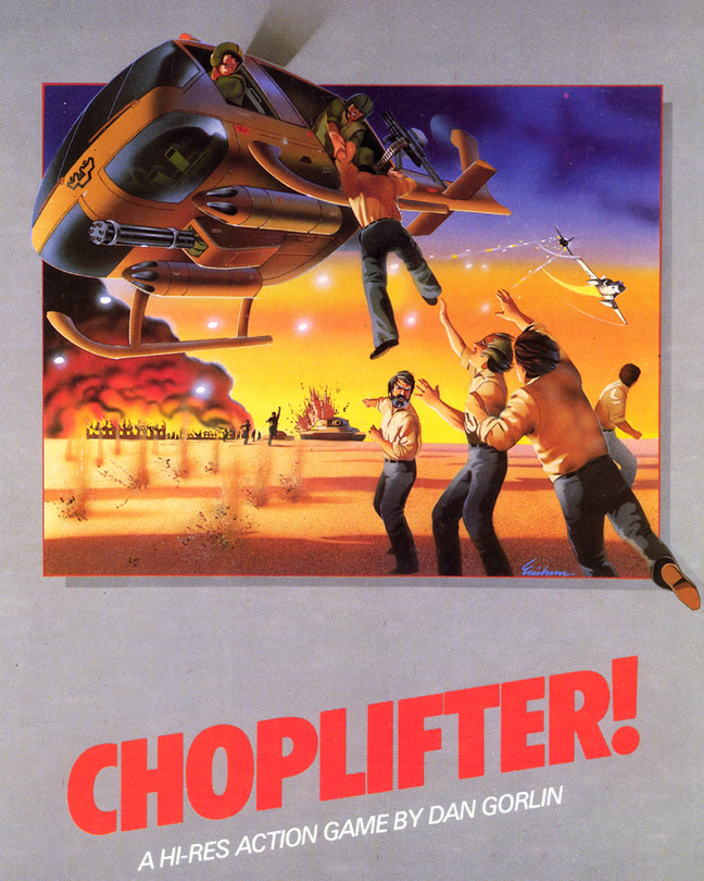 Choplifter ! (Apple II & C64 & Colecovision & FM-7 ALL)
