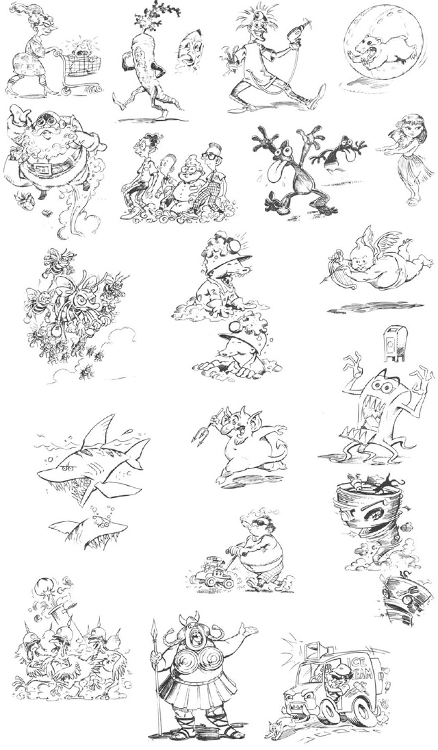 Toutes les illustrations de notice de Toejam & Earl (Megadrive ALL)